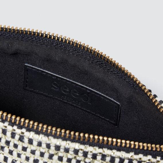 Woven Cosmetic Case  BLACK  hi-res
