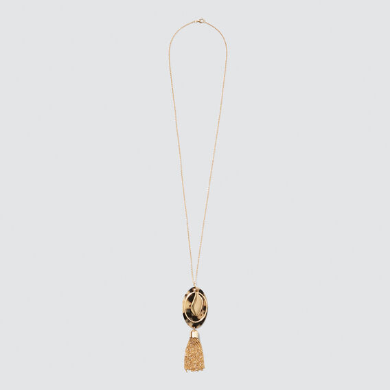 Chain Tassel Necklace  GOLD/TORT  hi-res