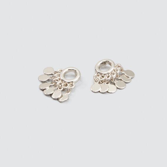 Drop Disc Earrings  SILVER  hi-res