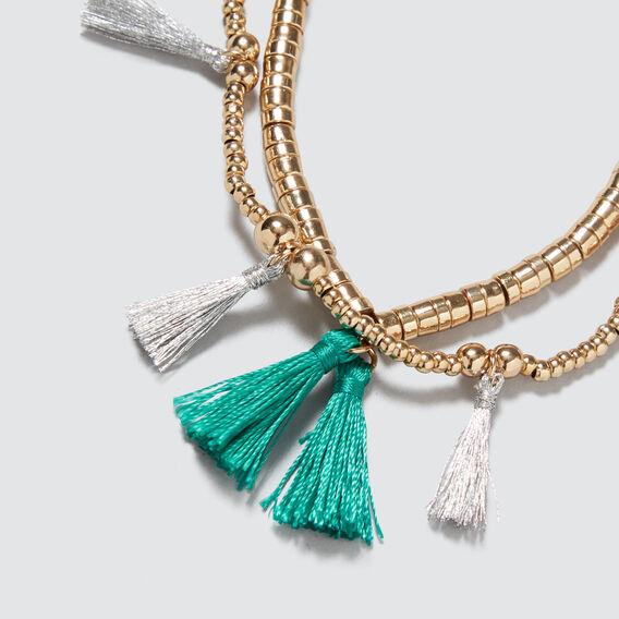 Metallic Tassel Bracelet  GOLD  hi-res