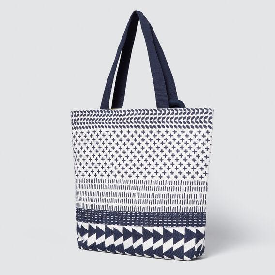 Noela Shopper Bag  WHITE/NAVY  hi-res