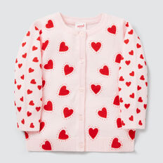 Spliced Print Cardigan  ICE PINK  hi-res