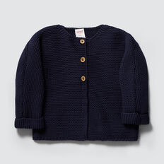 Chunky Knit Cardigan  NAVY  hi-res