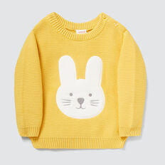 Buuny Applique Knit  PALE MUSTARD  hi-res