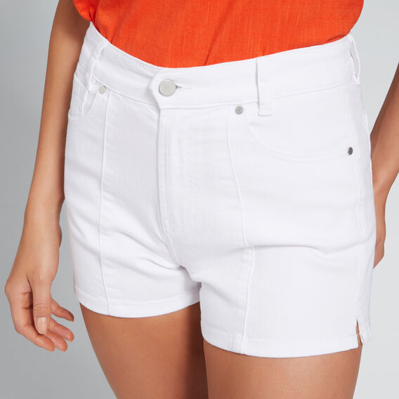 Side Notch Denim Short  WHITE  hi-res