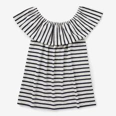 Stripe Frill Top  NAVY  hi-res
