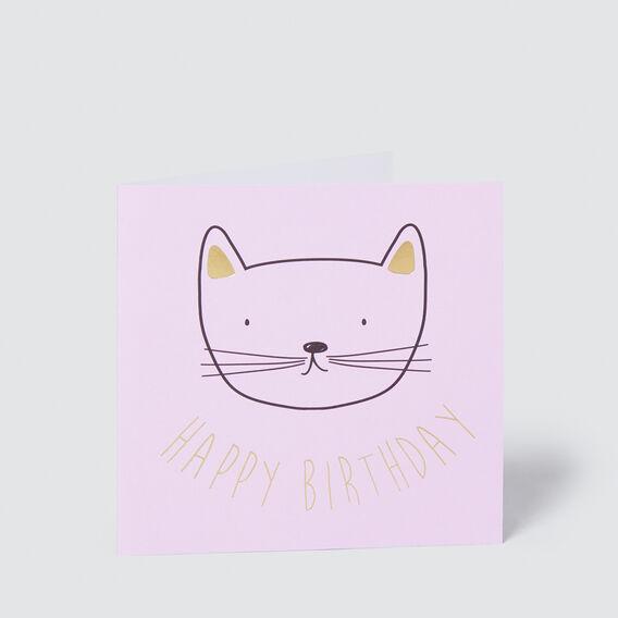 Happy Birthday Cat Card  MULTI  hi-res