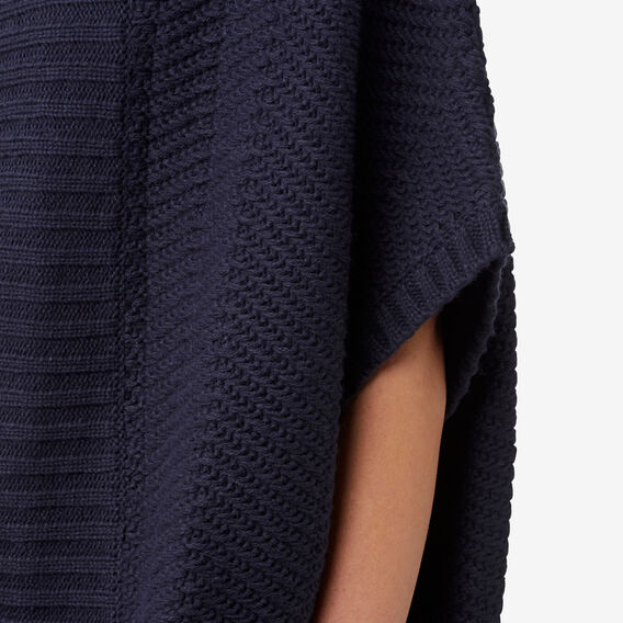 Chevron Knit Poncho  NAVY  hi-res