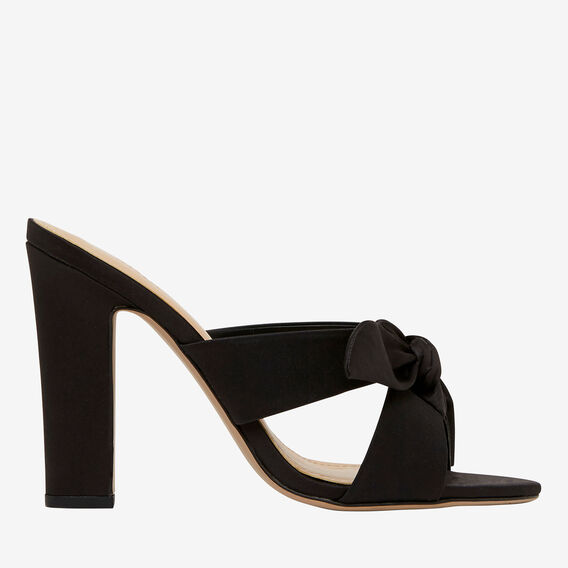 Melody Bow Mules  BLACK  hi-res