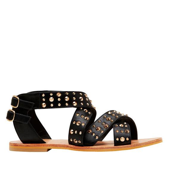 Studded Gladiator Sandal  BLACK  hi-res
