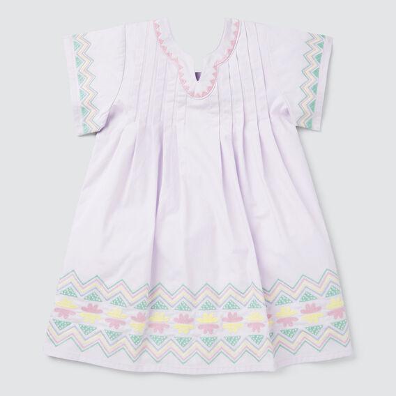 Embroidered Smock Dress  LILAC  hi-res