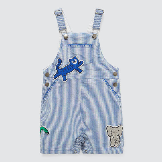 Stripe Patches Overall  PETROL BLUE  hi-res