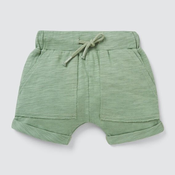 Slub Jersey Pocket Short  OLIVE  hi-res