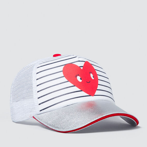 Happy Heart Mesh Cap  SILVER  hi-res
