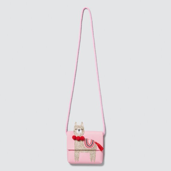 Mini Llama Purse  PINK FIZZ  hi-res