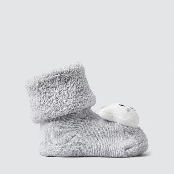 Grey Bear Rattle Socks  BIRCH MARLE  hi-res