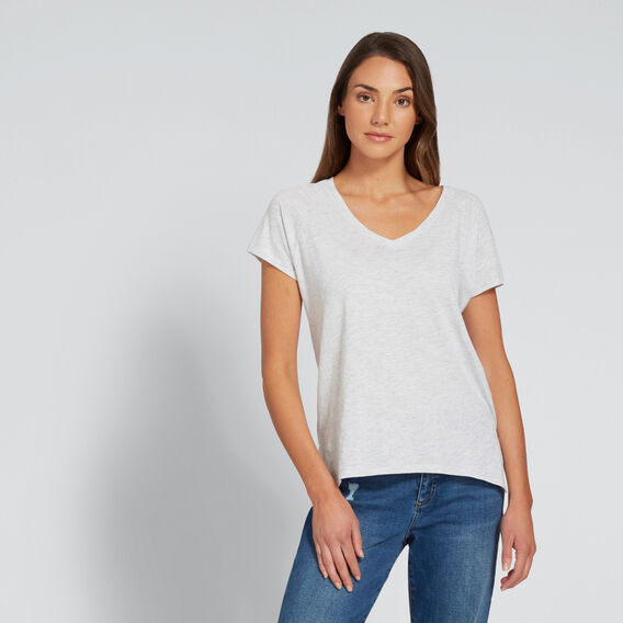 Core V-Neck Tee  LIGHT GREY MARLE  hi-res