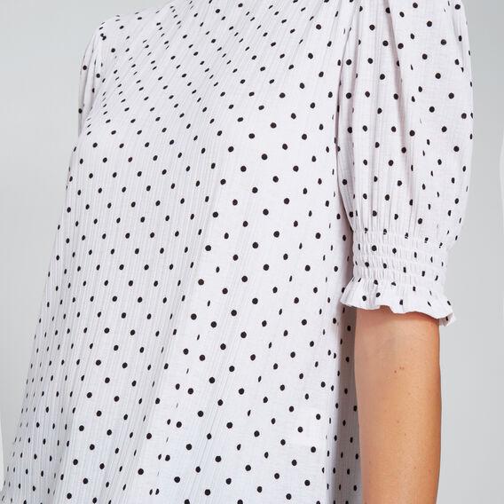 Shirred Sleeve Top  SPOT  hi-res