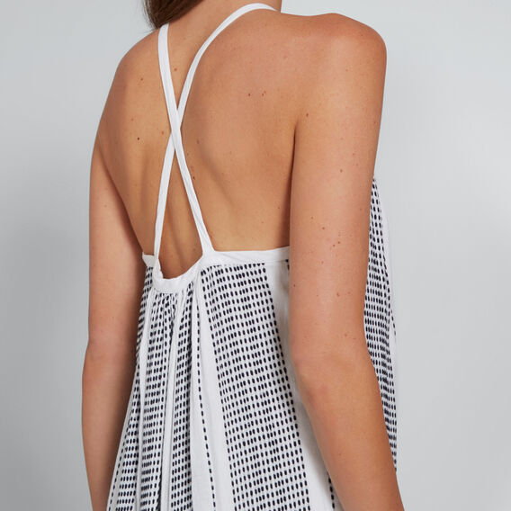 Cross-Back Relaxed Dress  WHISPER WHITE  hi-res