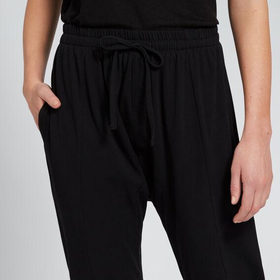 Seam Detail Harem Track Pant  BLACK  hi-res