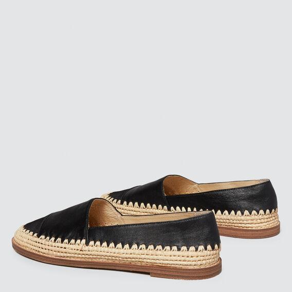 Elle Leather Flat  BLACK  hi-res