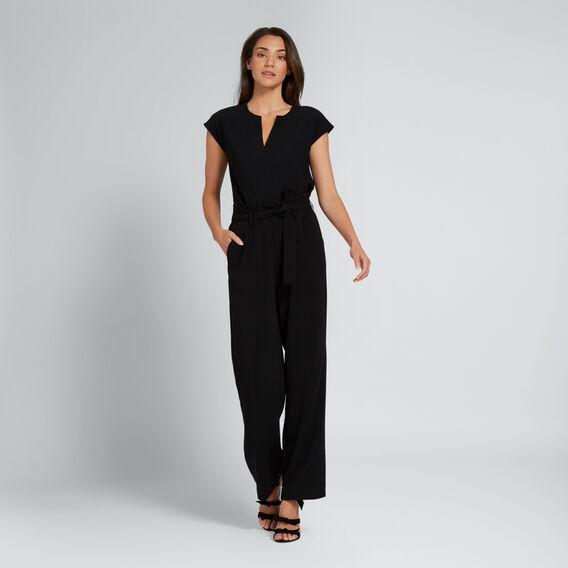 Paperbag Tie-Up Pant  BLACK  hi-res