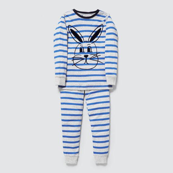 Bunny Stripe Pyjamas  CLOUDY MARLE  hi-res