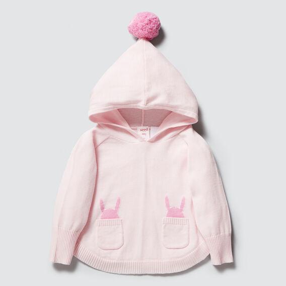 Bunny Poncho  ICE PINK  hi-res
