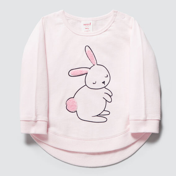 Chenille Bunny Windcheater  ICE PINK  hi-res