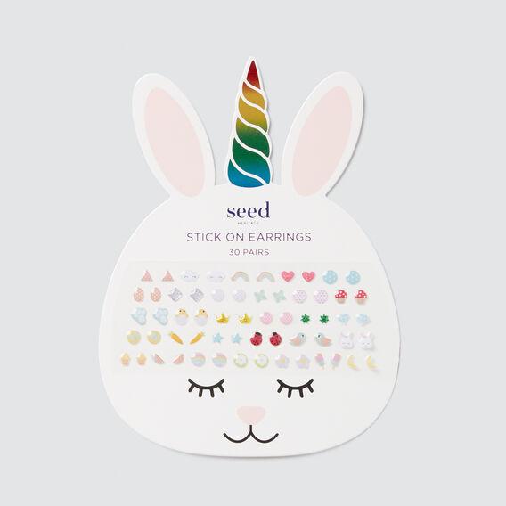 Bunny Stick On Earrings  MULTI  hi-res