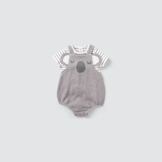 Koala Novelty Onesie  DARK GREY  hi-res