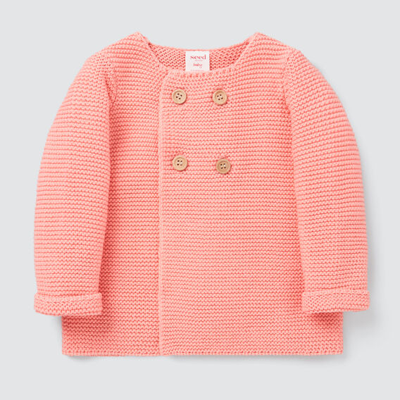 Pearl Knit Cardigan  BRIGHT PEACH  hi-res