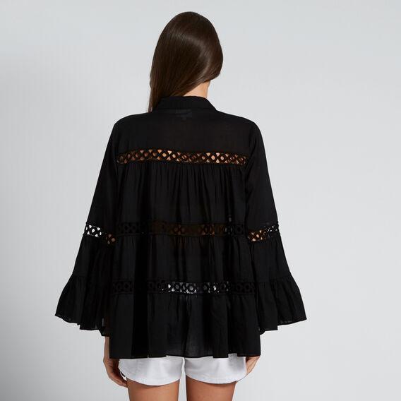 Floaty Trim Shirt  BLACK  hi-res