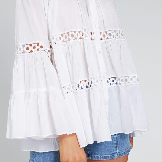Floaty Trim Shirt  WHISPER WHITE  hi-res