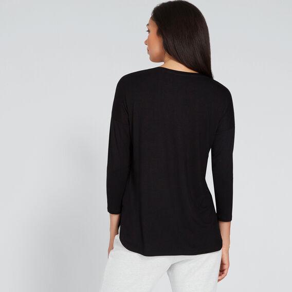 Drop Shoulder Top  BLACK  hi-res