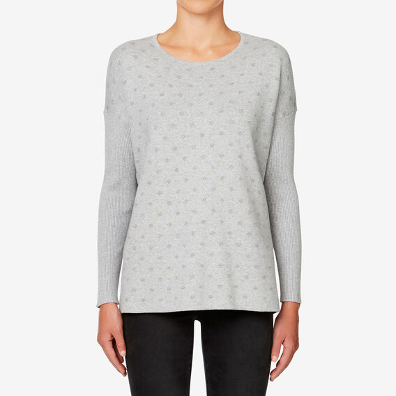 Lurex Spot Sweater  MID GREY MARLE  hi-res