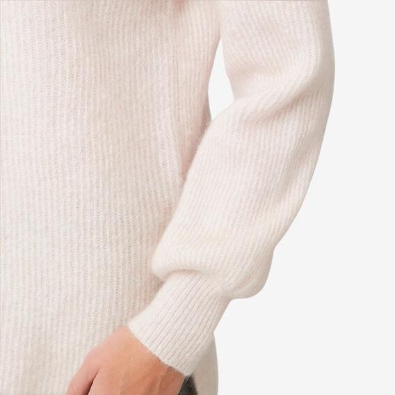 Relaxed Mock Neck Knit  ROSE MIST  hi-res