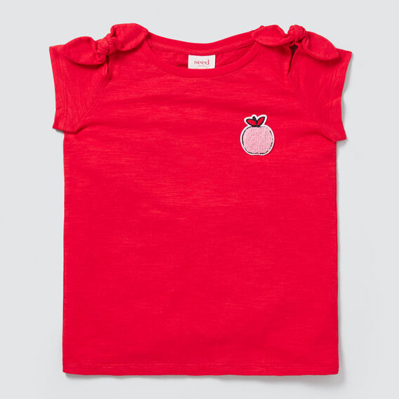 Apple Bow Tee  APPLE RED  hi-res