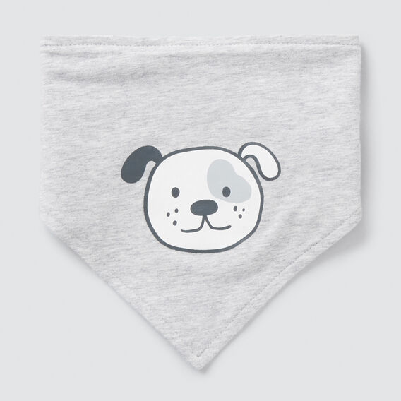 Bandana Puppy Bib  BIRCH MARLE  hi-res