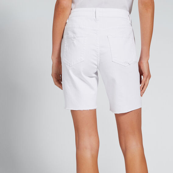 Bermuda Denim Short  WHITE  hi-res