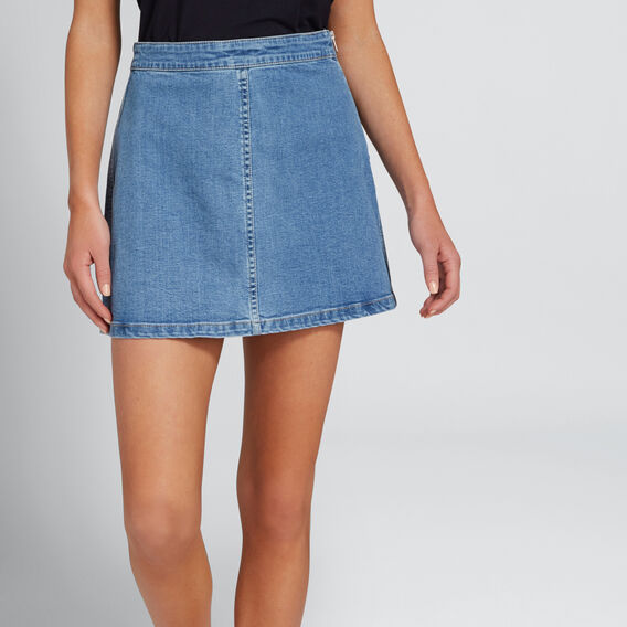 Basic Denim Skirt  CLASSIC DENIM  hi-res