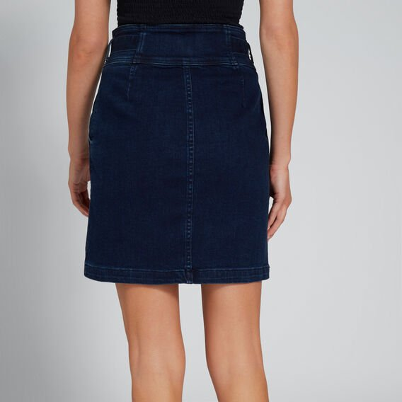 High-Waist Tie Skirt  DEEPEST BLUE WASH  hi-res