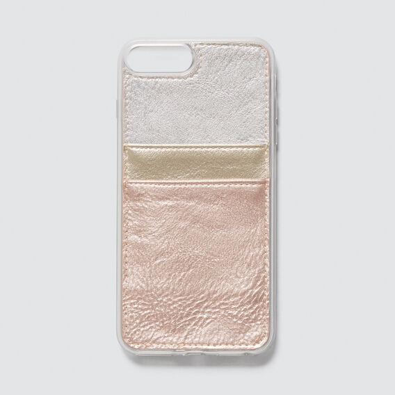 Twin Card Phone Case 6+/7+/8+  METALLIC MULTI  hi-res