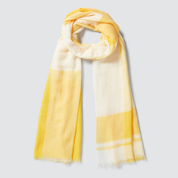 Gradient Check Scarf  AMBER YELLOW  hi-res