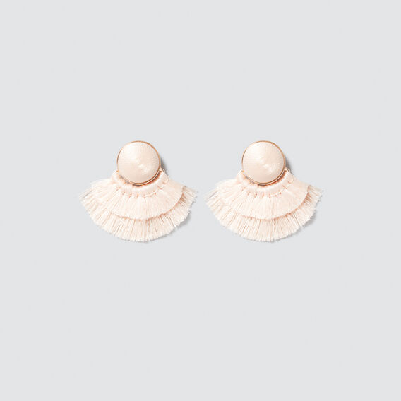 Stud Fringe Earrings  PEONY PINK  hi-res