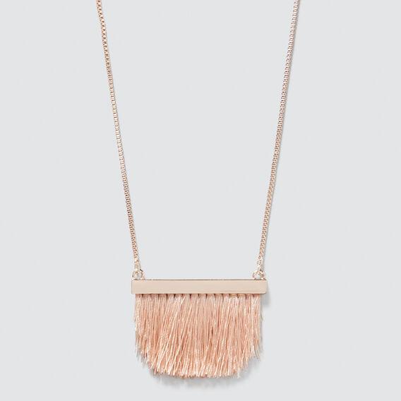 Bar Tassel Necklace  ROSE GOLD/ PINK  hi-res