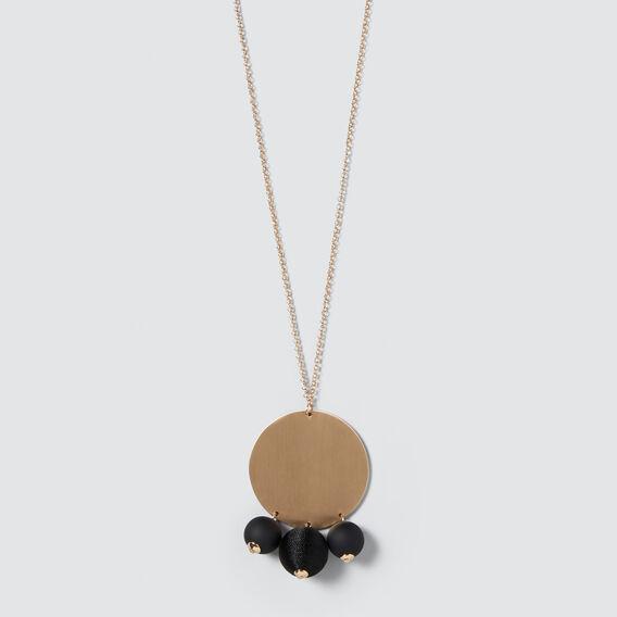 Pom Pom Necklace  GOLD/BLACK  hi-res