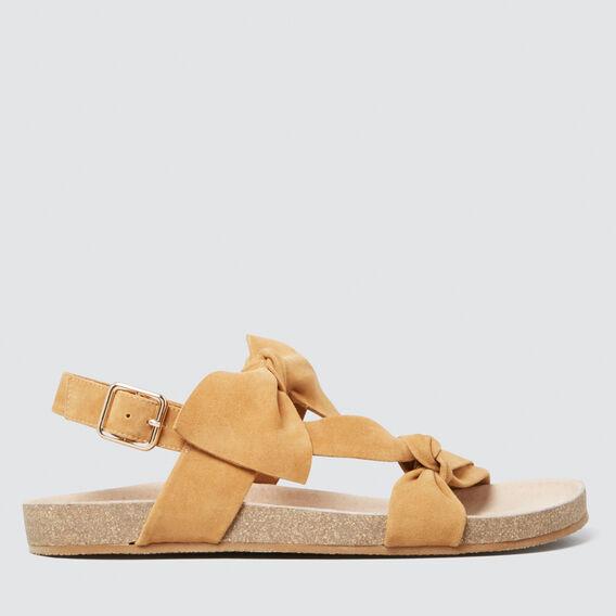Beth Double Bow Sandal  TAN  hi-res