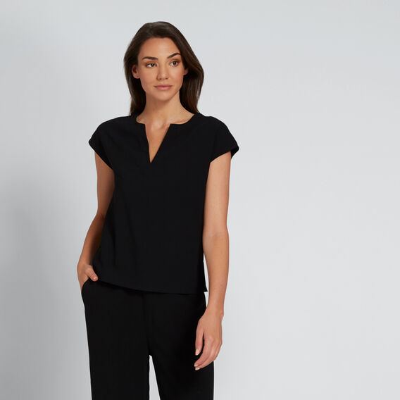 V-Neck Blouse  BLACK  hi-res