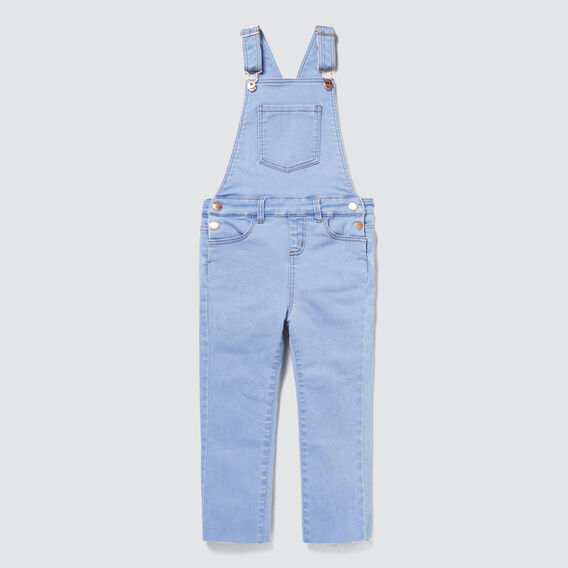 Long Denim Dungaree  BRIGHT WASH  hi-res